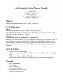 sle resume for clerical administrative sle resume for office 28 images resume in office