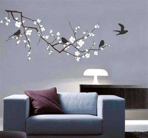 new 2016 vinyl fashion tree branch cherry blossom wall