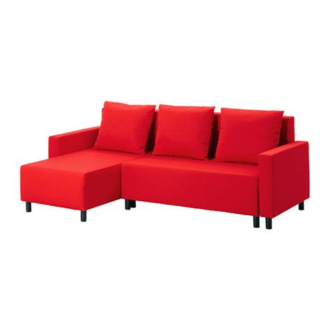 red sofa bed lugnvik sofa bed with chaise gran 229 n red ikea