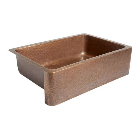 Shop Sinkology Adams 22 In X 33 In Antique Copper Single Farmhouse Copper Kitchen Sink