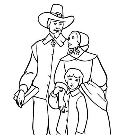 pilgrim family coloring page pin pilgrims coloring pages on pinterest