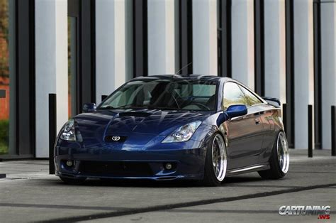 stanced toyota celica  front