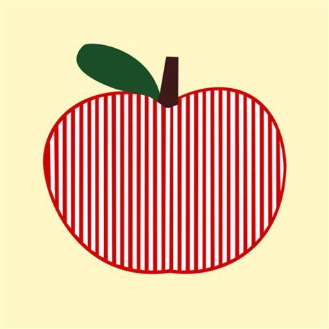 clipart vettoriali clipart vettoriali di apple simmetrico a strisce