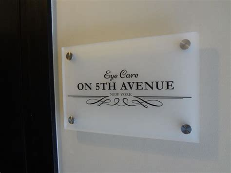 New York Wall Sticker frosted acrylic sign panel with custom die cut adhesive