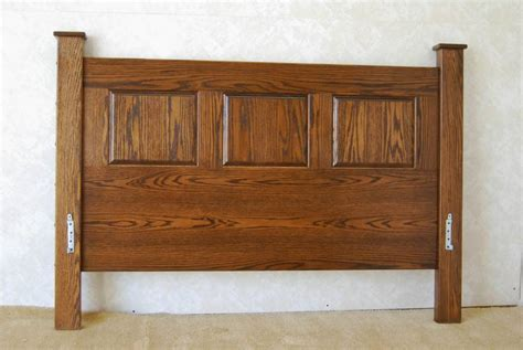 Oak Headboard by Mission Style Oak Headboard De Vries Woodcrafters