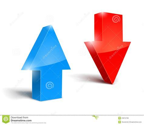 imagenes de up and down arriba y abajo de flechas icono fijado foto de archivo