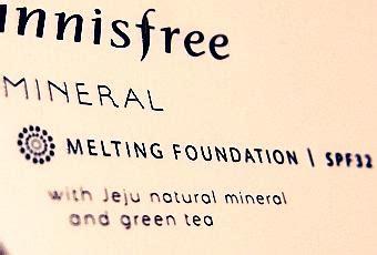 Harga Innisfree Mineral Melting Foundation innisfree mineral melting foundation review paperblog