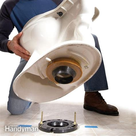 how to install plumbing how to replace a toilet the family handyman