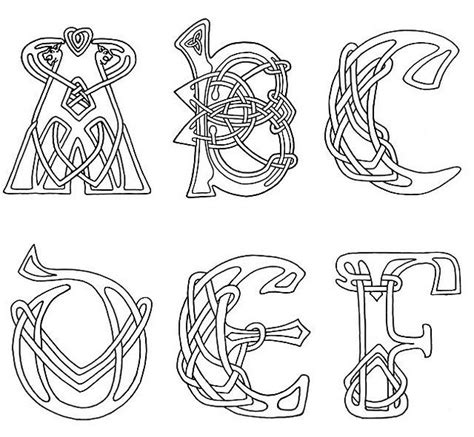 celtic letter coloring page clipart celtic letters tattoos piercings body mods