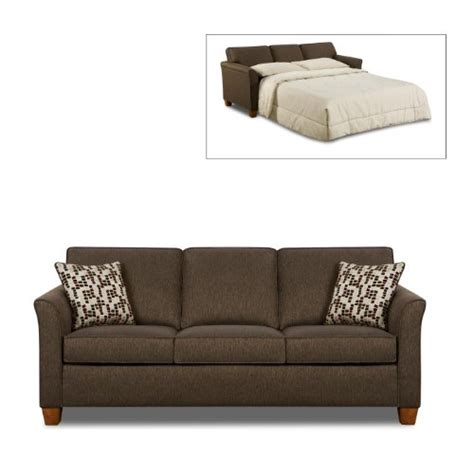 Simmons Sofa Sleeper Save 530 00 Simmons Chenille Chocolate Fabric Size Sofa Sleeper 075720553242 769 99
