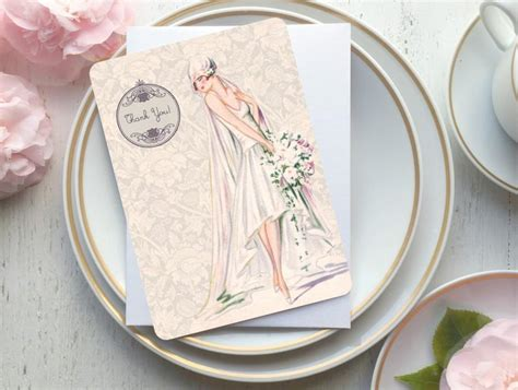 Thank You Card For Bridal Shower Gift - sale 30 off bridal shower gift bridal thank you cards bridal shower tag bridal