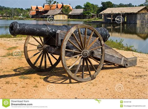 thai ancient cannon stock photo image of military attack
