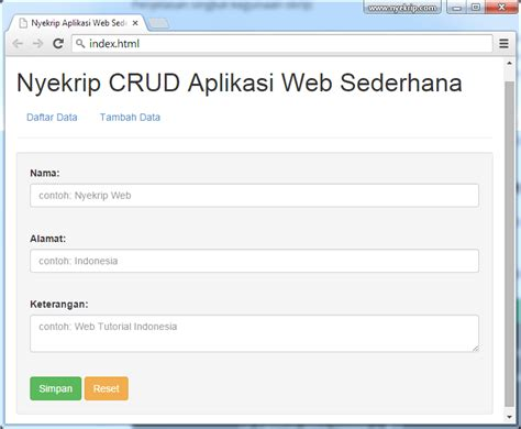 membuat aplikasi web sederhana cara membuat aplikasi web sederhana nyekrip