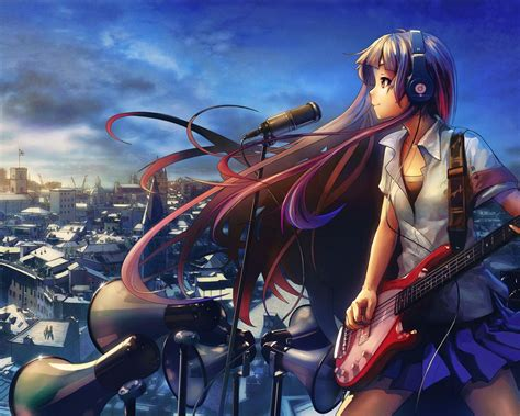 anime wallpaper hd 1280x1024 girl guitar music anime design hd wallpaper 1280x1024