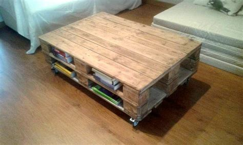 Pallet Coffee Tables Pallet Coffee Table With Book Storage 101 Pallets