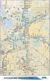 tollway map dallas tollway dnt