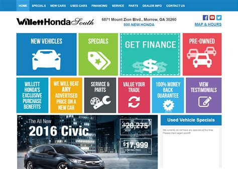 Willet Honda by Willet Honda Home Page Dominion Dealer Solutions