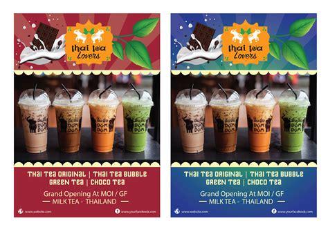 gallery kontes desain poster  minuman thai tea