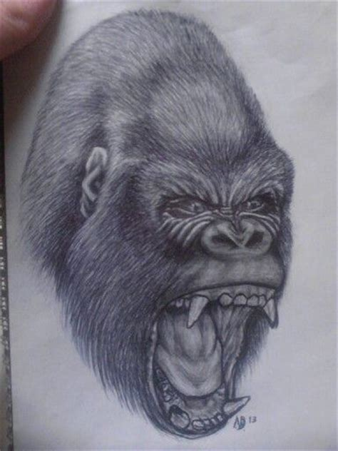 silverback gorilla tattoo pin silverback gorillas pictures to pin on
