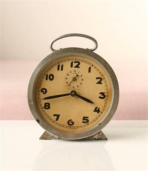 antique alarm clock wind up desk clock vintage german