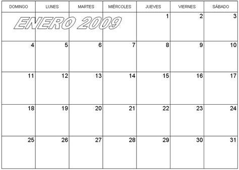 Calendario De Meses Calendario De Pared Agenda Enero 2009 171 Para Jefaturas