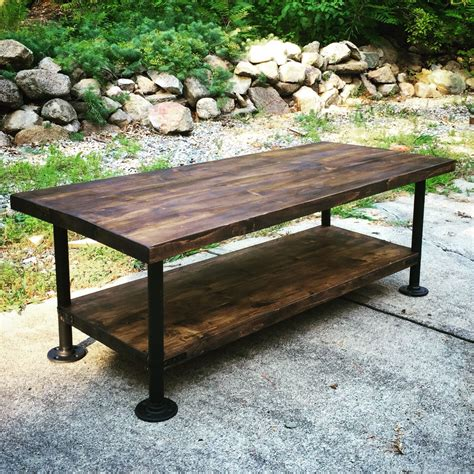 pipe bench legs industrial style wood coffee table with steel pipe legs