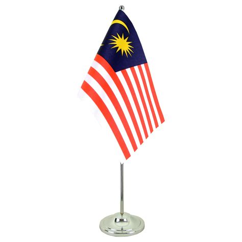 flags of the world malaysia satin malaysia table flag 6x9 quot royal flags