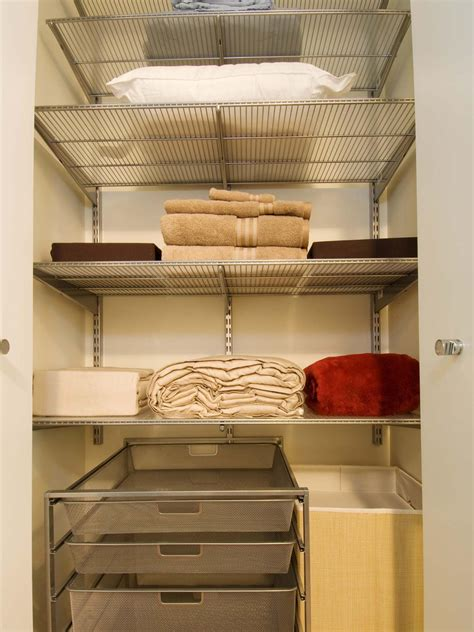 linen closet organization ideas organizing your linen closet hgtv