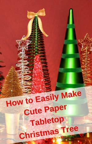 how to easily make paper tabletop tree gleam