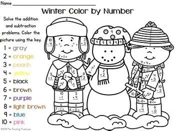 large print color by number coloring book winter beautiful and festive coloring activity book for and winter to relieve stress and relax books your students will practicing addition and