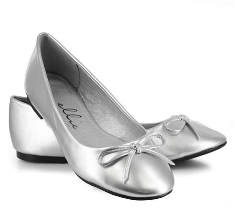 flat silver shoes click for a larger image