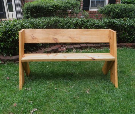 diy tutorial 16 simple outdoor wood bench the project
