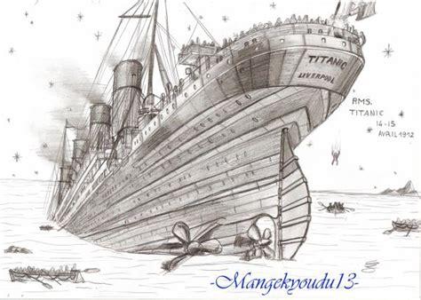 dessin bateau titanic titanic mes dessins manga