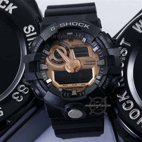 G Shock Ga 400 Rosegold Black Rubber Autolight On gambar g shock ori bm ga 710rg 1a black gold