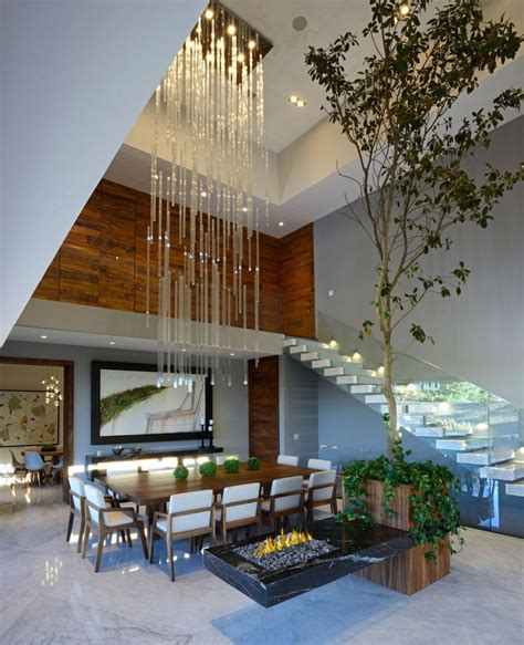 double height living room modern atrium house with large double height space living