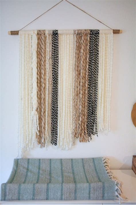diy boho home decor diy boho yarn wall art craft little miss momma