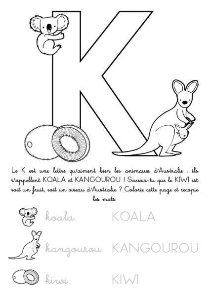 Coloriage 224 Imprimer Alphabet Lettre K