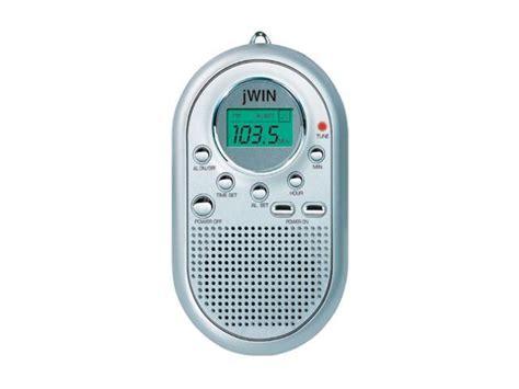 jwin mini amfm pocket radio alarm clock silver jx
