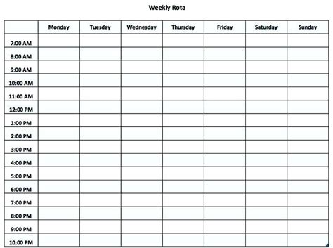 Monthly Staff Schedule Template Excel Rota Word Literals Can Be Reused Club Shift Night Teran Co Split Shift Schedule Template