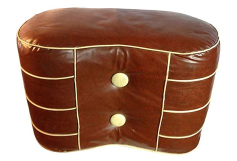kidney shape vintage kidney shaped pouf omero home