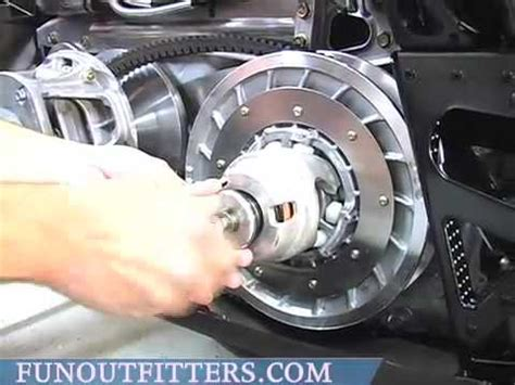 removing belt on 2010 arctic cat crossfire r 800 youtube