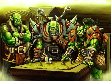 of warcraft table of warcraft orc warrior table