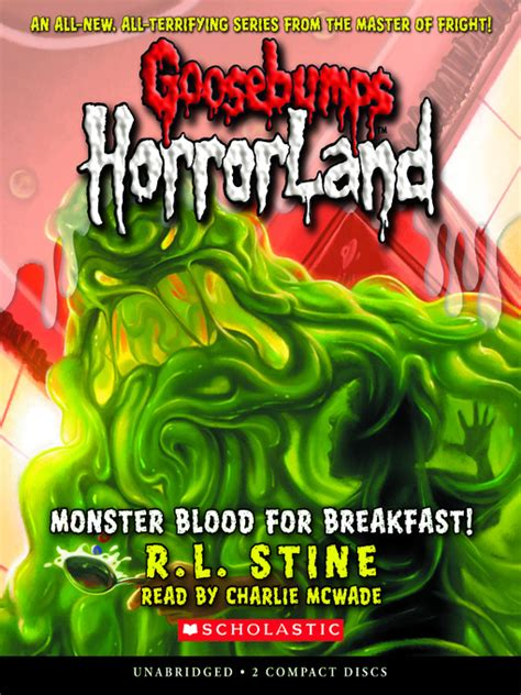 Ebook Goosebumps One Day At Horrorland Bonus Versi Indonesia blood for breakfast mp3 goosebumps horrorland series book 3 by r l stine et al