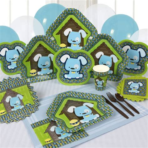 puppy birthday supplies make your celebration memorable with boy puppy tableware big dot of happiness
