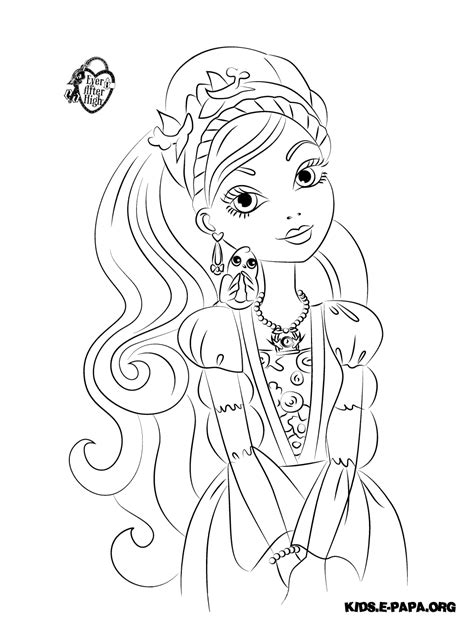 ever after high coloring pages ashlynn ella раскраски для детей ashlynn ella