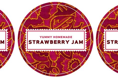 canning label template merriment design