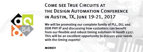 design automation conference 2017 true circuits inc