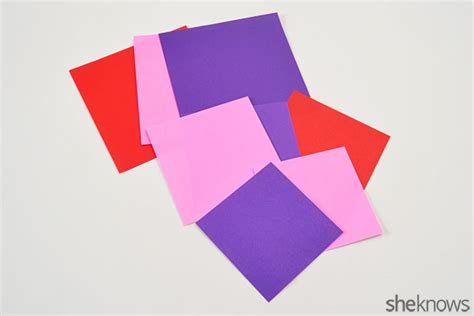 Origami Paper Supplies - teach your how to fold origami hearts for s day