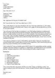 recruitment cover letter sle 28 soccer coach cover letter football coach cover