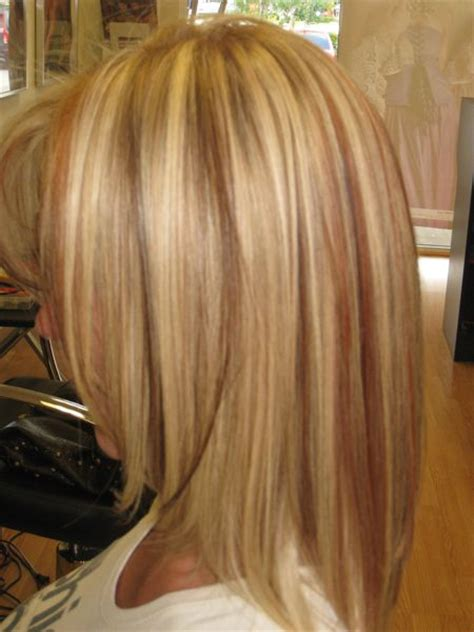 pic of blonde hair w lowlights red highlights w blonde low lights hair pinterest